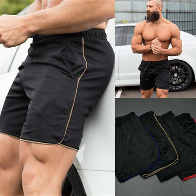 e877afa98e22 USA Men Swim Fitted Shorts Bodybuilding Workout Gym Running Tight Lifting  Shorts