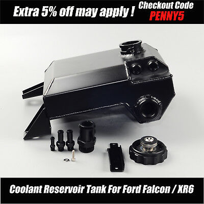 2.5L Black Coolant Overflow Reservoir Tank To Suit BA BF Ford Falcon 6 cylinder