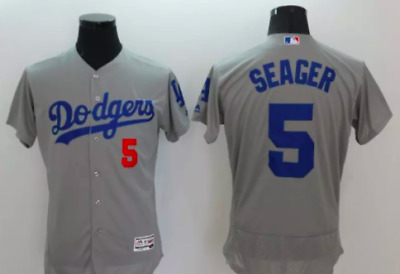 finest selection 9aeed 2e2e9 NWT LOS ANGELES Dodgers MLB Corey Seager 5 Away Grey ADULT Majestic jersey