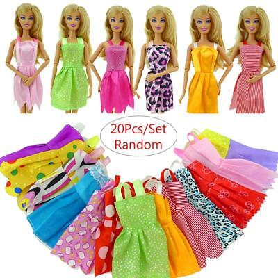 Handmade Barbie Clothes Party Dress outfit for Barbie Doll Chirstmas Gift 20pcs