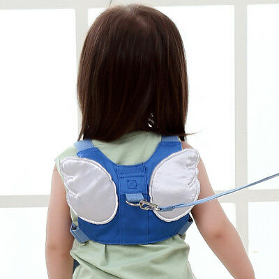 Anti-Lost Child Leash Kids Toddler Harness Baby Walking W/ Wings Safety Backpack