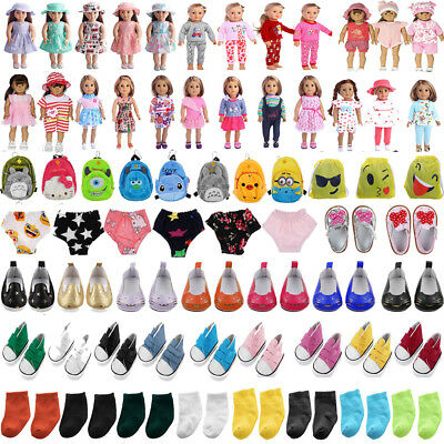 Cute Pajamas PJS Clothes Pants Shoes for 18 In Our Generation American Girl Doll