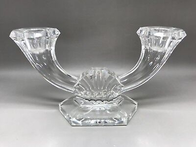 Val St Lambert Candlestick - Imperial Pattern