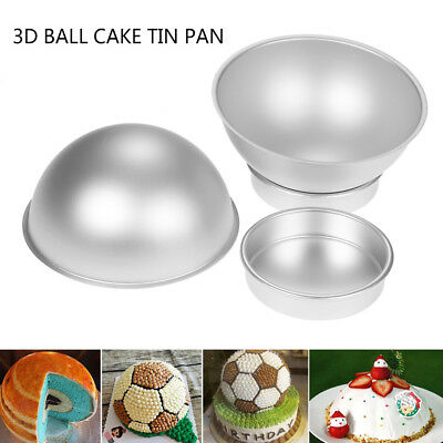 3D Kugel Backform Korbball Ball Halbkugel Sphäre Mould 15.5cm set