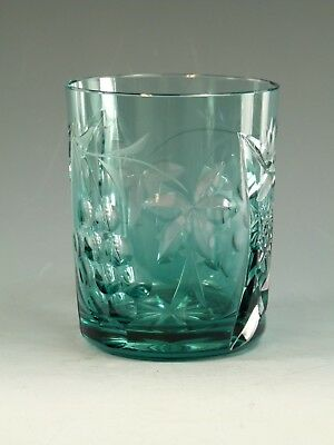 "NACHTMANN Crystal - TRAUBE Design - Tumbler Glass / Glasses - 4"" - Teal"