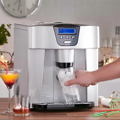 Ice Maker Machine Digital Professional Home 1 Litre 15kg per Hour w/ 3 Ice Types