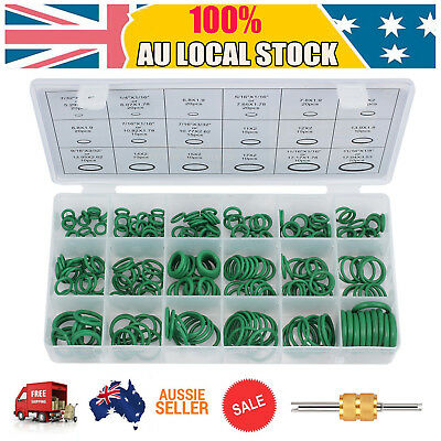 270pcs Car Air Conditioning O Ring Assortment Kit Rubber Sealing Repair A/C Trim
