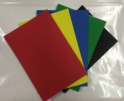 """5 PACK OF """"PRIMARY"""" SELF ADHESIVE FOAM SHEETS, 15.5cm x 23cm sheets"""