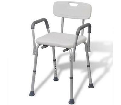 Shower Chair Aluminium White Safe And Comfortable Bathing Solution New