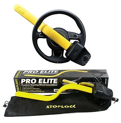 Stoplock Pro Elite Steering Wheel Lock Anti Theft Thatcham Cat 3 Approved New
