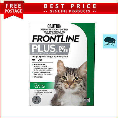 Frontline Plus for Cats & Kittens 6 Doses Flea Treatment by Merial