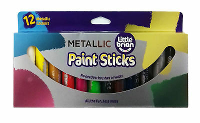 Little Brian Paint Sticks Metallic Colours 12 Pack