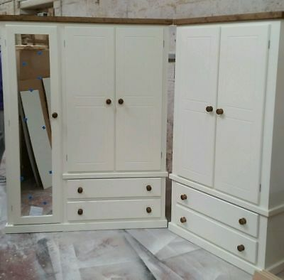 Shaftesbury Triple And Double Package White With Jacobean Trim No Flat Packs