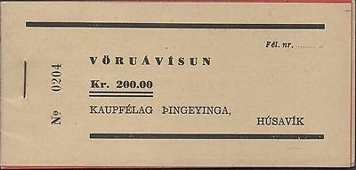 Iceland / Husavik 200 kronur  Nato Military Base Uncirculated Booklet  Rare