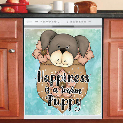 Beautiful Cute Decor Kitchen Dishwasher Magnet - Adorable Baby Pocket Puppy #2