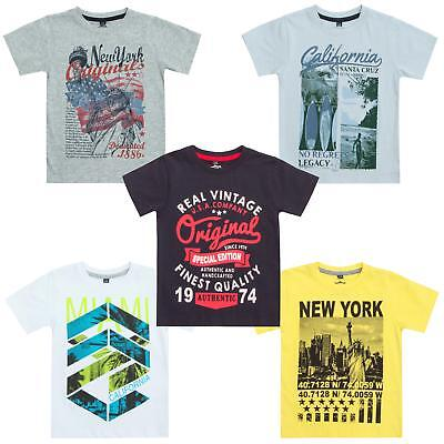 Boys American Design T-Shirt / Top / Tee ~ 2-13 Years
