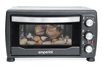 Emperial Mini Oven 19L Black Table Top Portable Grill Baking Wire Tray