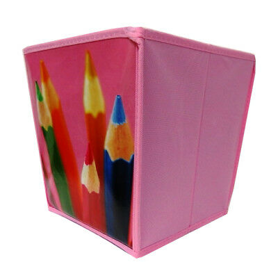 Childrens Colourful Storage Cube / Waste Paper Bin - Blue, Purple or Pink
