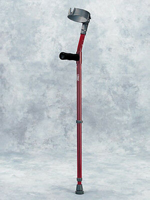 Walk Easy Forearm Crutches Adult Height Adjustable with Full Cuff