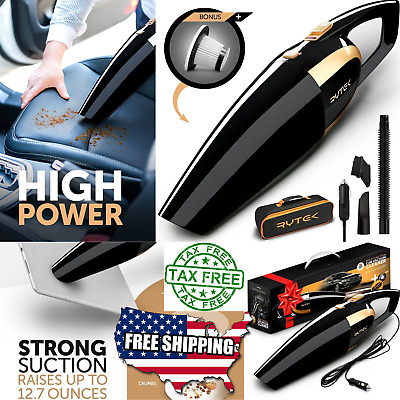 Car Vacuum Cleaner 12V Auto Mini Hand held Wet Dry Small Portable Dustbuster Kit