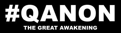 2.5 x 9 inch #QANON - The Great Awakening Bumper Sticker  - q anon reddit trump