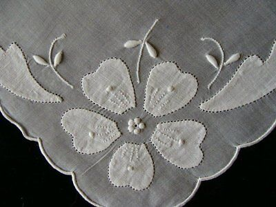GORGEOUS Vintage 16pc MADEIRA White Organdy Placemats PRISTINE Unused SUPERBIA