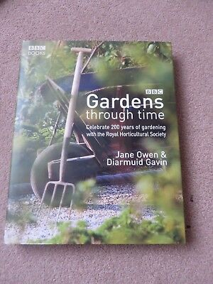 BBC Gardens through time 200 years of gardening with RHS hardback  book new