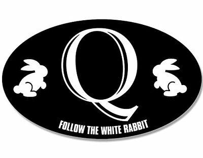3 x 5 inch oval qanon follow the white rabbit sticker q anon i reddit