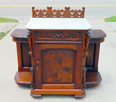 Walnut Victorian Marble Top Washstand~Hall~Foyer~Dining Room