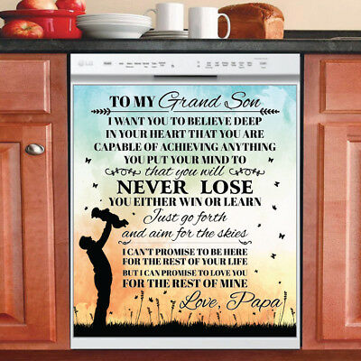 Beautiful Cute Decor Kitchen Dishwasher Magnet - Grand Son ~ Dad Family Magnet