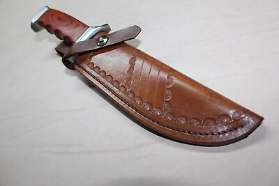 New Custom Hand Made Leather Knife Sheath for a Larger size knife see photo's
