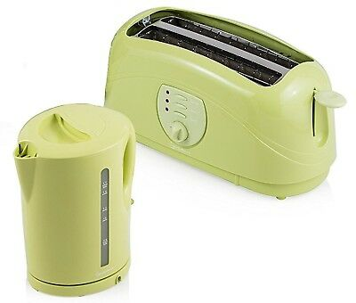 Signature Pistachio Green 1.7L Kettle And 4 Slice Toaster 2Kw Kitchen Dinning