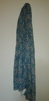 d3b8987e0 CATH KIDSTON WOVEN Printed Scarf Soft Teal 660785 - £22.00