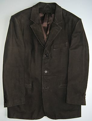 New Latini Leather Medium Weight Brown Sports Jacket M-L Made In Italy $1,095