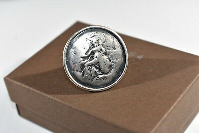 RARE Size 11 Silpada Sterling Silver Stunning Roman Coin Ring R1901 HTF Size 11