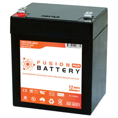 12V 5.4AH SLA AGM Battery Replacement 4 Razor PowerRider 360 Electric Tricycle
