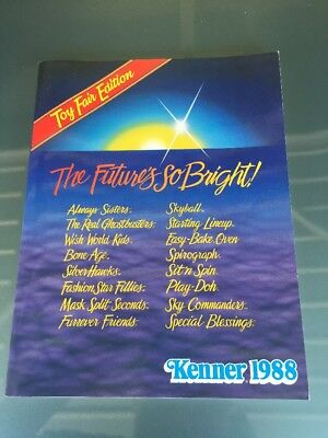 1988 Kenner Toy Fair Catalog Starting Lineup Ghostbusters