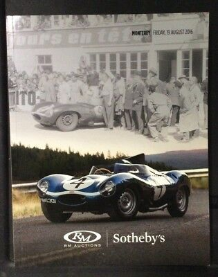 Rm Auctions Catalog Sotheby'S Monterey August 19,2016 Catalog