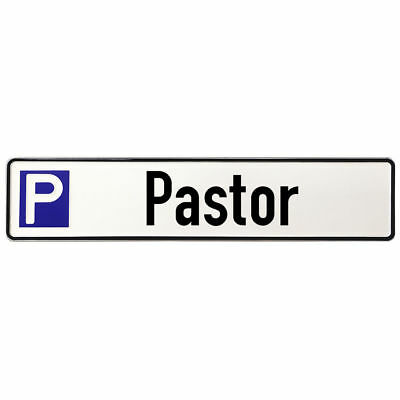 Shield Made of Aluminium - Parking Spot for Pastor a municipality or Church