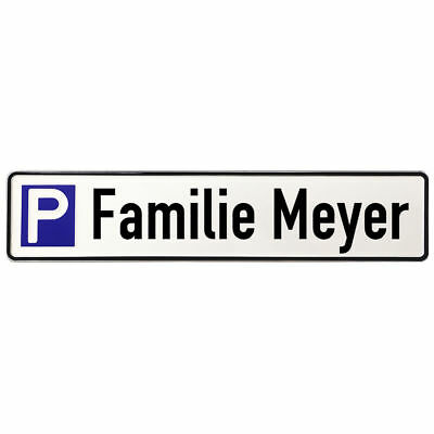 ALUMINIUM SIGN Parking Spot for Members of a Family S3671