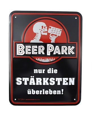 Gift for cellar bar: Shield -beerpark - Only The Strongest Survive! G318