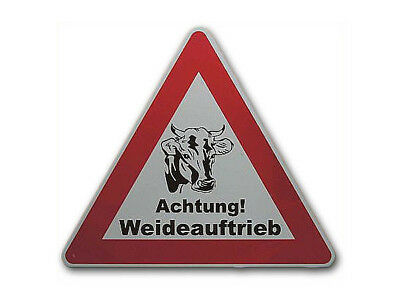Triangular Traffic Sign with rindermotiv and Personalized S2401