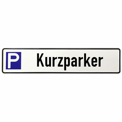 Shield Made of Aluminium - Parking Spot for kurzparker S3604