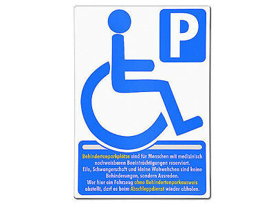 behindertenparkplatz Shield Made of Aluminium Dimensions: 297 mm x 210 0,7 S5613