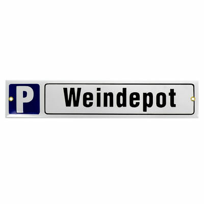 Parking Spot Sign Enamel with desired Text Maximum 60 x 8 cm S975