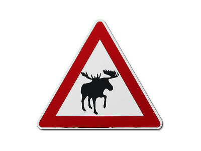 Canadian Traffic Sign Moose - The Traffic Signs from Canada S3426