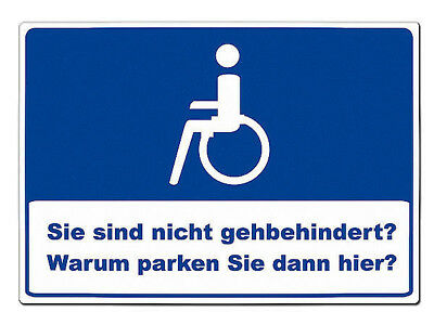 Parking Spot for Disabled - Shield Made of Aluminium a4-format S5567