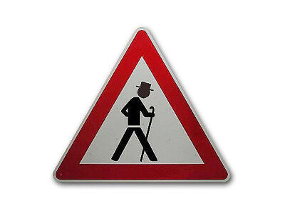 Triangular Traffic Sign with Old Man S2302