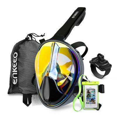180°Full Face Snorkel Snorkeling Mask Diving Goggles Breather For GoPro AU Scuba