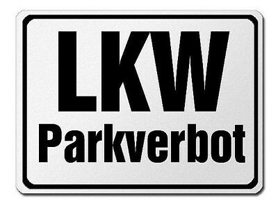 parkverbotsschild Made of Aluminium - PARKING PROHIBITED For Truck's S3725